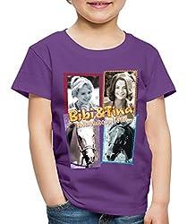 Bibi Und TinaTohuwabohu Total Sabrina Collage Kinder Premium T-Shirt, 122/128 (6 Jahre), Lila
