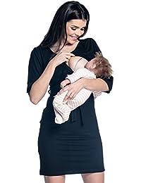Zeta Ville - Maternité robe grossesse allaitement épaules découpées - femme 432c