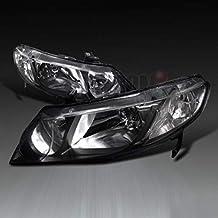 honor JD Fit Honda 2006-2011 - Faros Delanteros de Color Negro (Izquierdo y