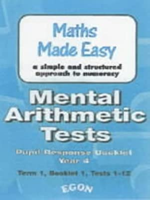 Mental Arithmetic Tests: Work Sheets Year 4 by Egon Publishers Ltd
