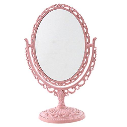 Espejo de aumento de mesa Espejo de aumento de doble cara con rotación de 360   grados Aumento de 3x...