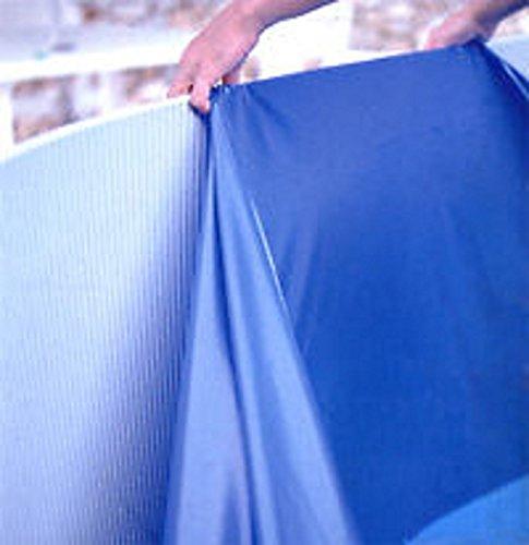 Steinbach Rund-/ Poolfolie, Ø 360 x 90 cm, Stärke 0,40 mm, überlappend, blau, 011913
