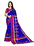 Art Decor Sarees Silk Saree with Blouse Piece (Kumhaar Matka_Blue_Free Size)