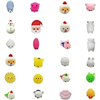 Squishys kawais,24pcs Set de Juguete para niños de Navidad Suave Juguetes Squeeze Toy Slow