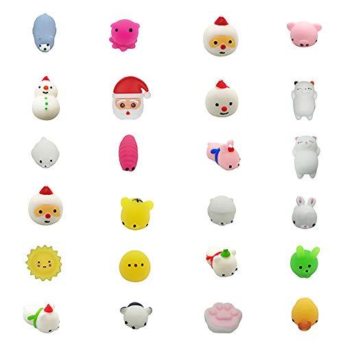 24PC/ 20PC/ 18PC - Weihnachten Spielzeug - Sind sehr weich und gut zum kneten - Schadstofffreies Kinderspielzeug für Jungen & Mädchen, Kinder... (E-24PC)