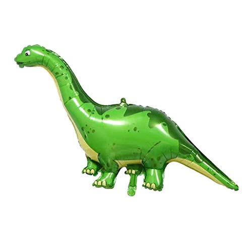 P Prettyia 1 Pieza Globo de Dinosaurio Estilo Animal Inflables Suministro de Envoltorio Reserva de Fiesta - Dinosaurio Verde