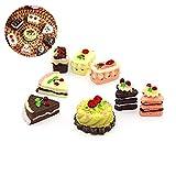Xiton Mini Puppenstuben Kuchen kreative Spiele Food Cake Set Kinder Puppenhaus dekoratives Spielzeug 8Pcs