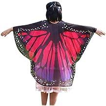 Overdose Kind Kinder Jungen Mädchen Faschingskostüme Karneval Kostüm schmetterlingsflügel Kimono Flügel Schal Cape Tuch Pashmina Kostüm Zubehör Butterfly Wing Cape