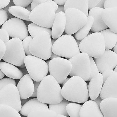 1 kg, Dragees in Herzform, Weiß