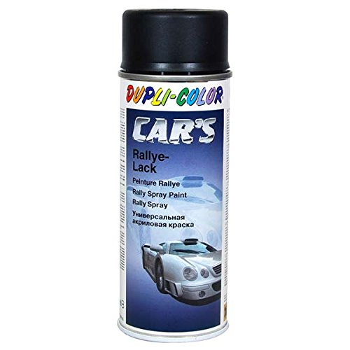 Duplicolor 652240 Spray de Pintura para Coches, Color Negro Mate, 400 ml
