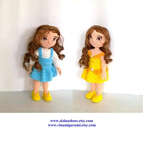 Doll amigurumi: Belle animator doll amigurumi pattern (English Edition)