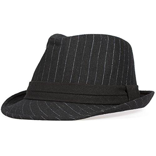 Bowler Hut - Schwarz Wolle England Jazz Hut ManChDa Herren Trilby Fedora