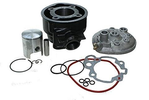 Citomerx Kit cylindre 70cm3 avec culasse LC refroidie par eau pour moteurs Minarelli AM 2, 3, 4, 5, 6, Aprilia RS, Beta RR 50, Malaguti XSM, Motorhispania Furia, Peugeot XP6, Rieju MRX, Sherco EN 50