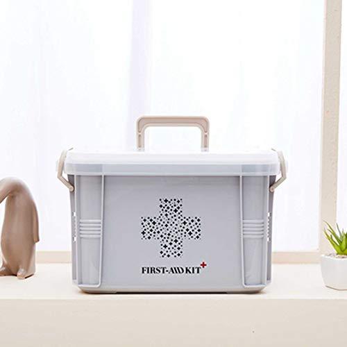 41BDG6xqt6L - Laurelmartina Diseño práctico para Uso en el hogar Botiquín de Primeros Auxilios Caja de plástico Botiquín de plástico Kit de Emergencia Organizador de Almacenamiento portátil