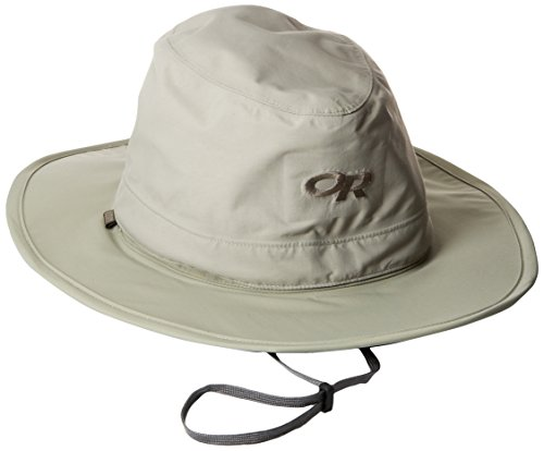 Outdoor Research Ghost Regenhut, Damen, Ghost Rain Hat, Khaki, Large