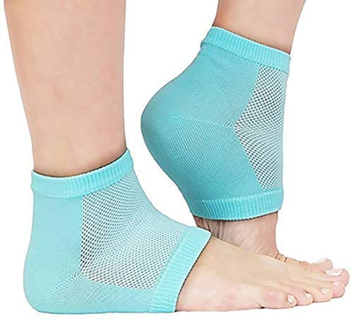 PETRICE Heel Pain Relief Silicone Gel Heel Socks | Heel Protector Socks For Men And Women (Multi Color - As per Availability)