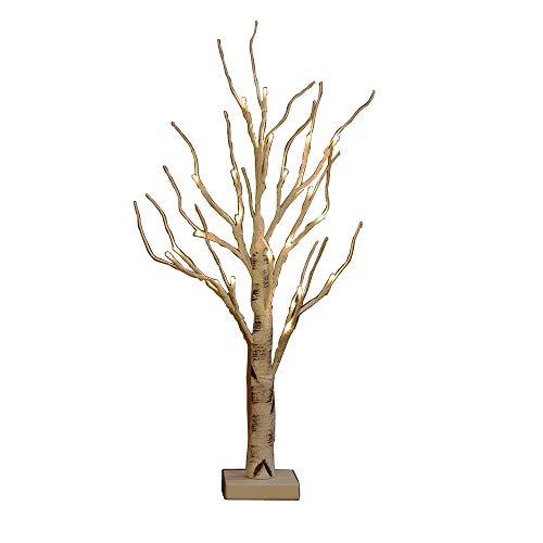 Midore Baum Birke LED Lichterketten 60cm 24 Warm Weiß LED Batteriebetriebene Lichtbaum DIY Blickfang Stellt Dekobaum für Ostern Party Dekoration