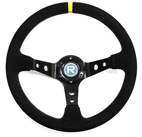 Carparts-Online 29560 350mm Sport Lenkrad geschüsselt Echt Wildleder schwarz Rennsport TYP 3