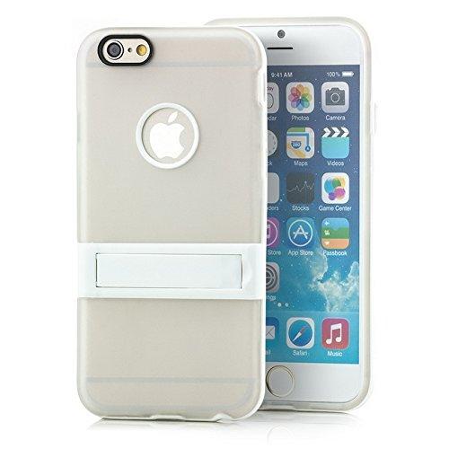 Saxonia Apple iPhone 6 Plus / 6S Plus Hülle Case Slim Silikon Schutzhülle Back Cover Silikonhülle mit Standfuß Transparent Transparent