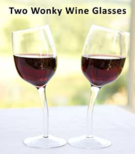 Two Wonky Wine Glasses