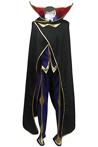 Geass Lelouch Kostüm Cosplay Code - Karnestore Code Geass: Lelouch of The Rebellion Zero Outfit Cosplay Kostüm Herren XL