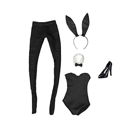 z Häschen Mädchen Kleidung Set für 12'' Weibliche Aktion Figur Outfit (Weibliche Bunny-kostüm)