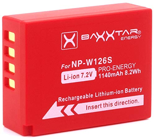 Baxxtar Pro   Batería Compatible Fujifilm NP W126s
