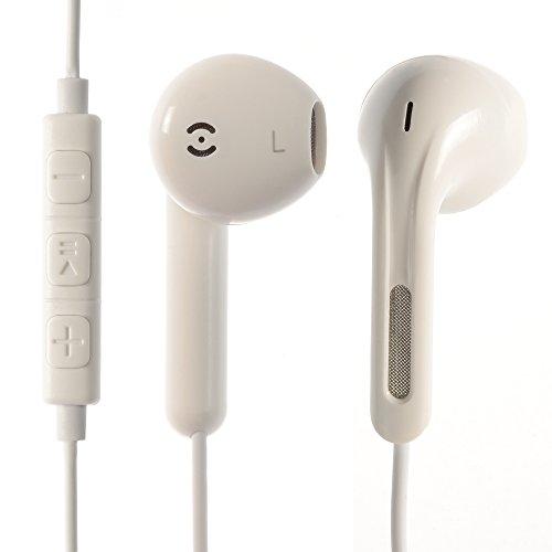 iprotect Premium Kopfhörer in Ear in weiß - Headset für alle Modelle wie z.B. Sony, Samsung, LG, Huawei, HTC, uvm. | Sport Kopfhörer | Ohrhörer