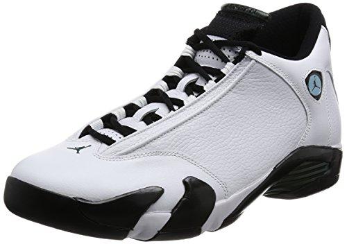 Nike Air Jordan 14 Retro, Chaussures de Sport-Basketball Homme Blanc