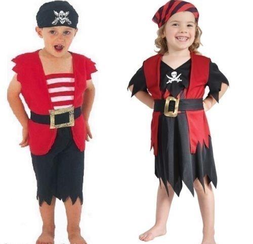 er Kinder Kleinkinder Piraten büchertag Verkleidung Halloween Kostüm Kleid Outfit 3 Jahre - Mädchen, 3 Years (Piraten Kostüme Kleinkind Mädchen)