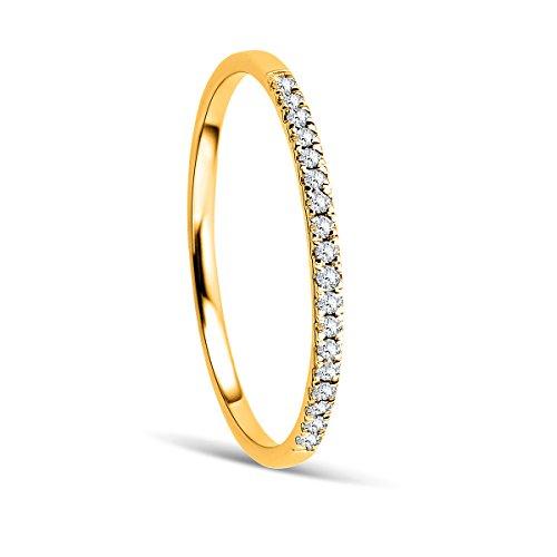 Orovi Ring Damen Ewigkeitsring Gelbgold 9 Karat / 375 Gold Diamant Brillianten 0,08 ct