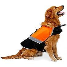 Petneces Chaleco salvavidas portátil para perro, con reflectante de seguridad para la vida de mascotas