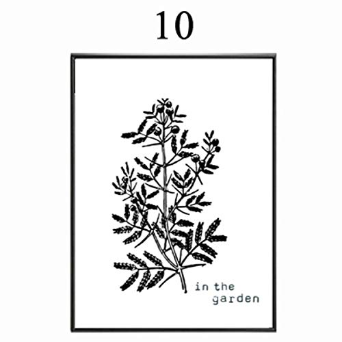 NBHHDH Leinwanddrucke, Schwarz Weiß Abstract Pflanze Baum Minimalistischen,Wall Art Bild Poster Drucken Home Decor,Für Büro, Küche, Schlafzimmer, Wohnzimmer, Flur, Shopping Mall, 20 × 25 cm