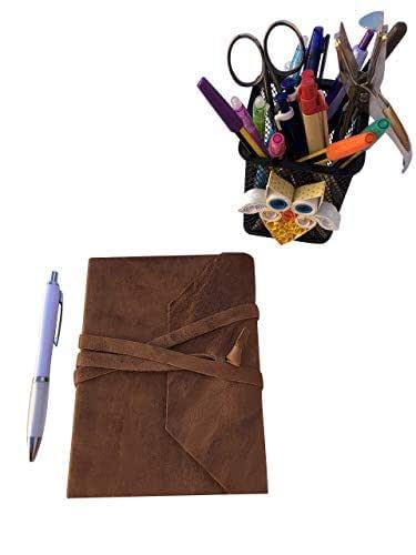 CG - Talento Fiorentino, quaderno, agenda, diario, libro muto rivestito in vera pelle effetto stropicciato vintage col. Spiaggia fatto a mano a Firenze, Made in Italy