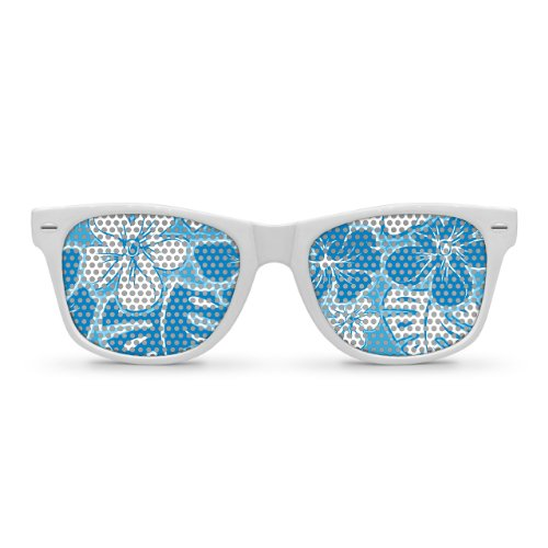 Eyepster HAWAIIAN White Retro Party Sunglasses