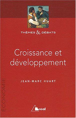 Croissance et développement par Jean-Marc Huart