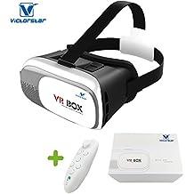 VICTORSTAR @ VR Case II Casque 3D Lunettes Avec Télécommande VR Réalité Virtuelle 3D Lunettes Vidéo 3D Jeu Des Lunettes Pour Inch 4,7 à 6 Smartphones IOS Android les Téléphones Portables