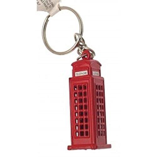 Rosso Iconic cabina telefonica portachiavi/Charm per
