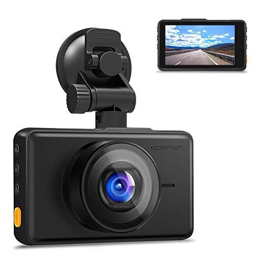 APEMAN Dashcam 1080P Full HD Autokamera 3 Zoll LCD-Bildschirm 170 ° Weitwinkel, Wide Dynamic Range,G-Sensor, Parkmonitor,Bewegungserkennung, Loop-Aufnahme