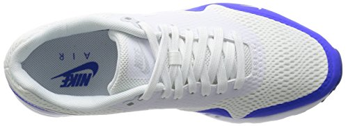 Nike Air Max 1 Ultra Essential, Chaussures de Sport Homme Blanc (White/pure Platinum/racer Blue/white)