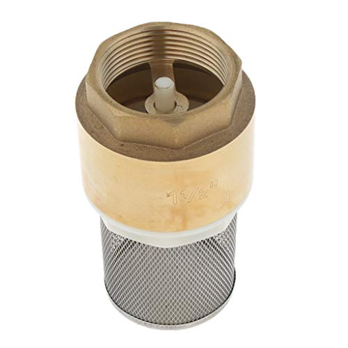 perfk DN40 Rückschlagventil aus Messing mit Siebfilter Fußventile für Wasserpumpe
