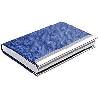 Quantum Abacus Tarjetero / Estuche para tarjetas de visita, de acero inoxidable y cuero PU