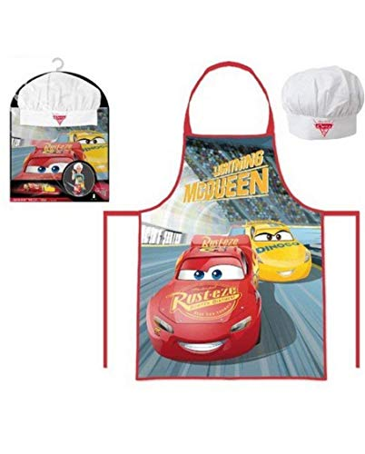 Suncity Cars Set Chef Delantal+Gorro 3 a 8 años LQ0015