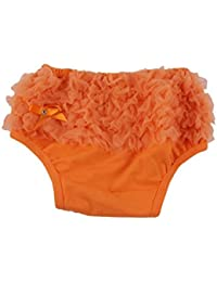 Funky Baby Chiffon Ruffled Bloomers - Orange(3-4 Years)
