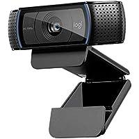 Logitech C920 HD PRO Webcam, Full-HD 1080p, 78° Sichtfeld, Autofokus, Klarer Stereo-Sound, Belichtungskorrektur, USB-Anschluss, Für Skype, FaceTime, Hangouts, etc., PC/Mac/ChromeOS/Android - Schwarz