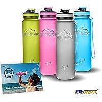 NEWSUMIT Botella De Agua Shaker Deportiva Superior - BPA Free Tritan - Todo Uso (gris