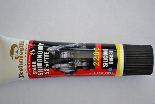 Schmiermittel, 55 % PTFE Fett, Silikon, für Montage / Bremsscheiben / Blöcke / Gummidichtung / Zündkerzen, hochwertig, 100ml
