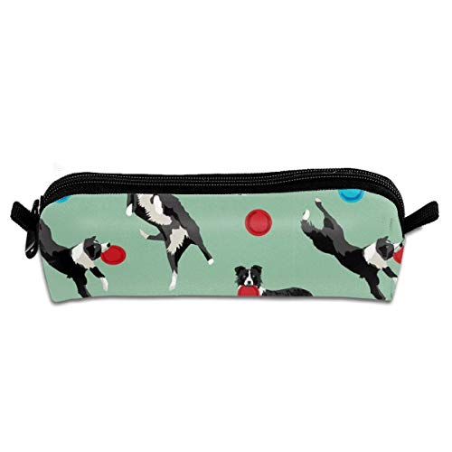 Border Collie Disc Dog Fabric Travel Makeup Train Bag Orgaizer Storage Bag Toiletry Pouch Cluth Bag -