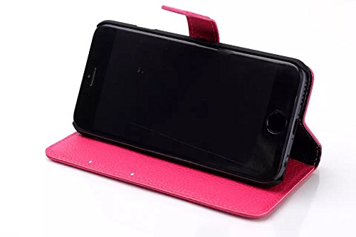 "inShang iPhone 6 Plus Coque iPhone 6+ 5.5"" Housse de Protection Etui pour Apple iPhone 6 5.5 Inch, Cuir PU de premiere qualite, + inShang Logo Qualite Pens Haute Stylet capacitif A ROSE RED"