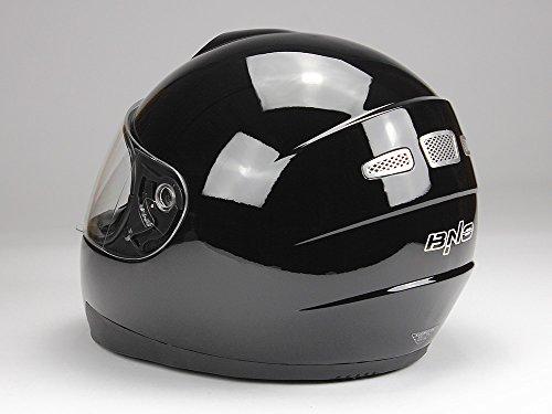 Integralhelm Motorradhelm Helm BNO F500 erschiedene Farben (XS,S,M,L,XL,XXL) (XXL, Schwarz glänzend) - 6